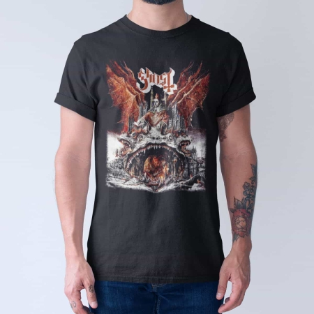Ghost Band T-Shirt, Ghost Prequelle Cover Tee-Shirt, Hard Rock, Heavy Metal  Merch