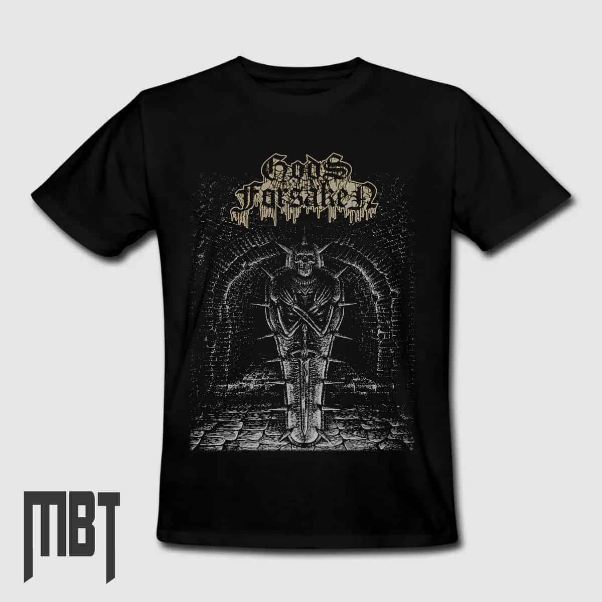 7c6e58964296 GodsForsaken Band T-Shirt, GodsForsaken In a Pitch Black Grave Tee-Shirt, Death  Metal Merch – Metal Band T-Shirt   Metal Band Tee Shirts