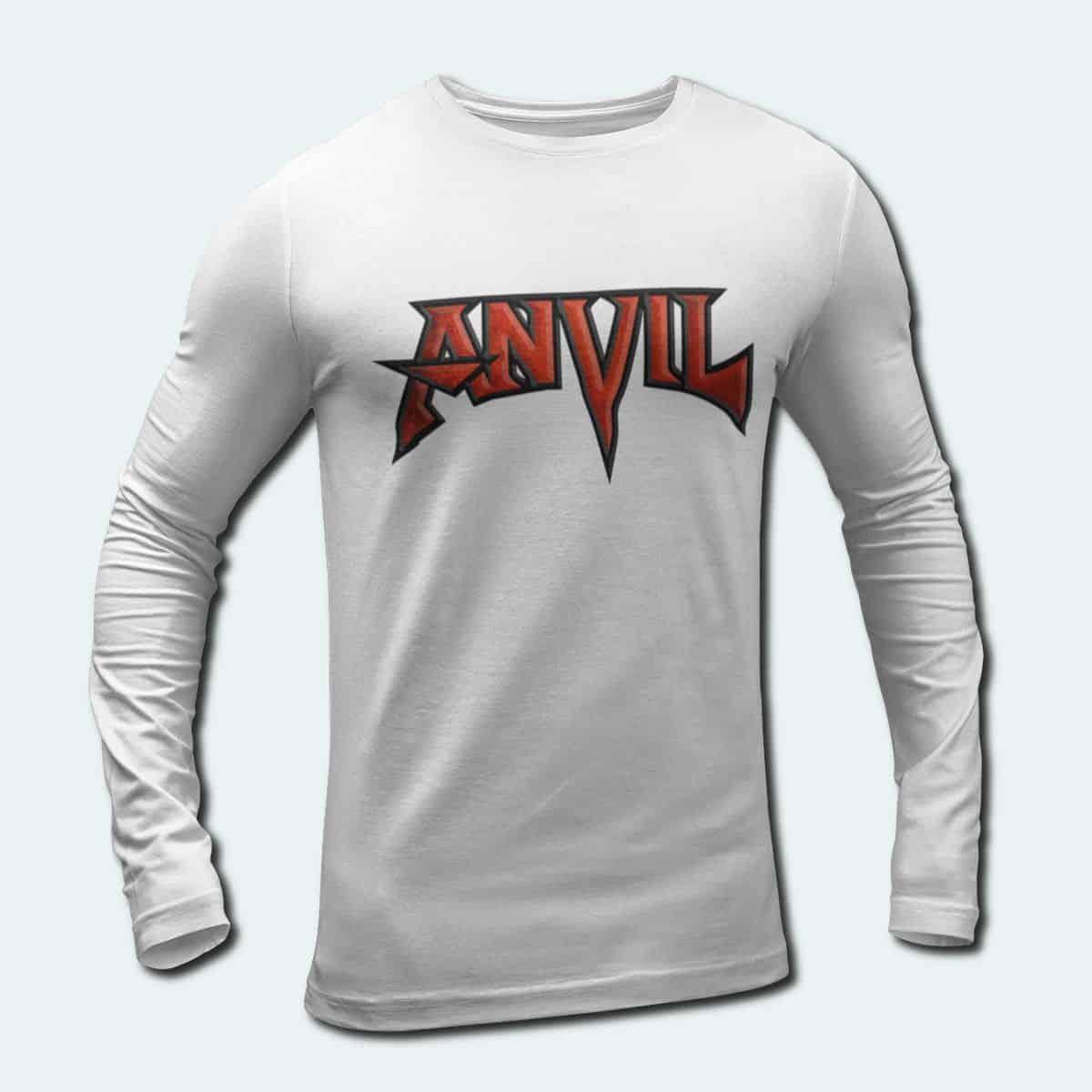Anvil Band Long Sleeve T Shirt Anvil Logo Longsleeve Tee Heavy Metal Power Metal Merch Metal Band T Shirt Metal Band Tee Shirts