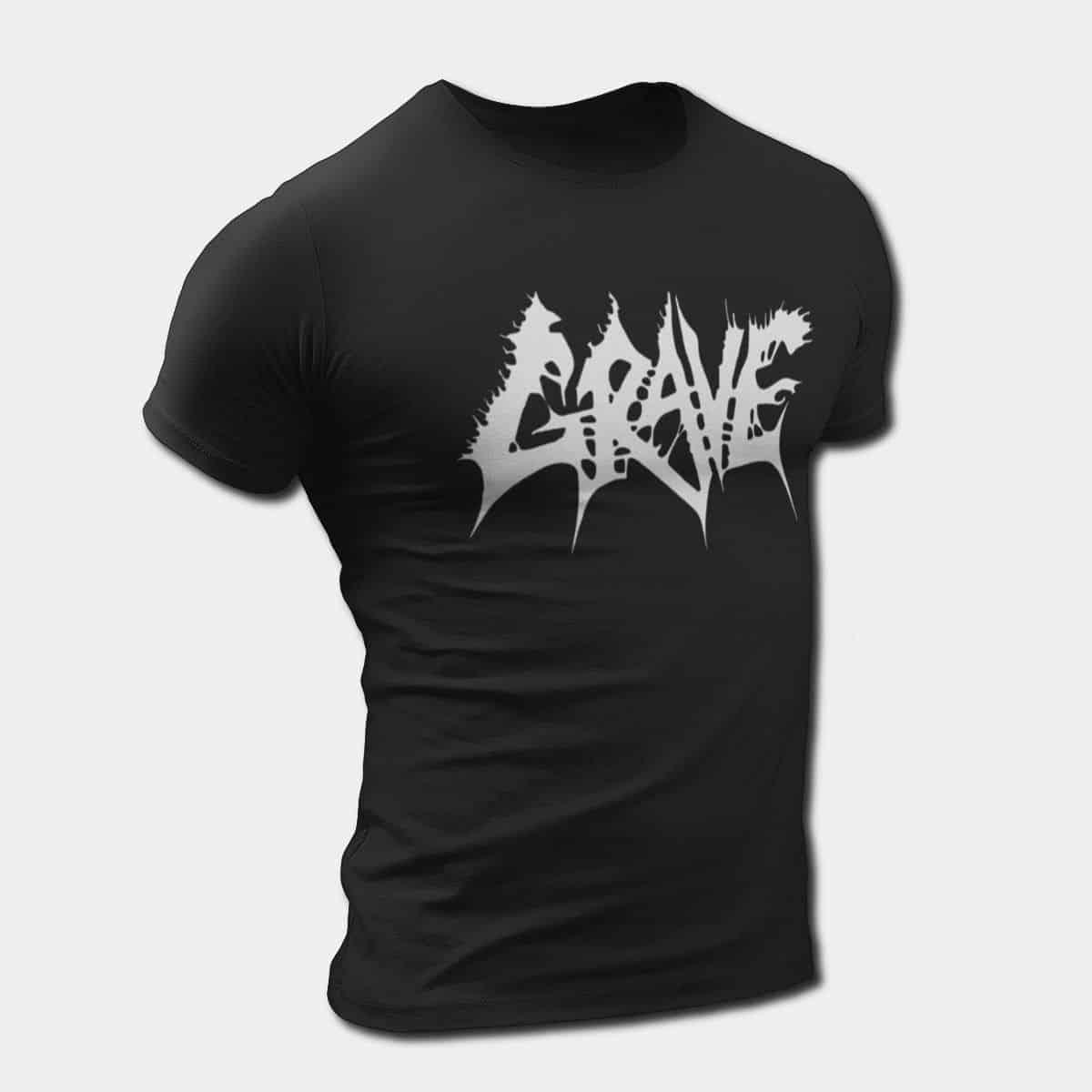 9ac028f86cbb Grave T-Shirt, Grave Logo Tee, Death Metal Merch – Metal Band T-Shirt    Metal Band Tee Shirts