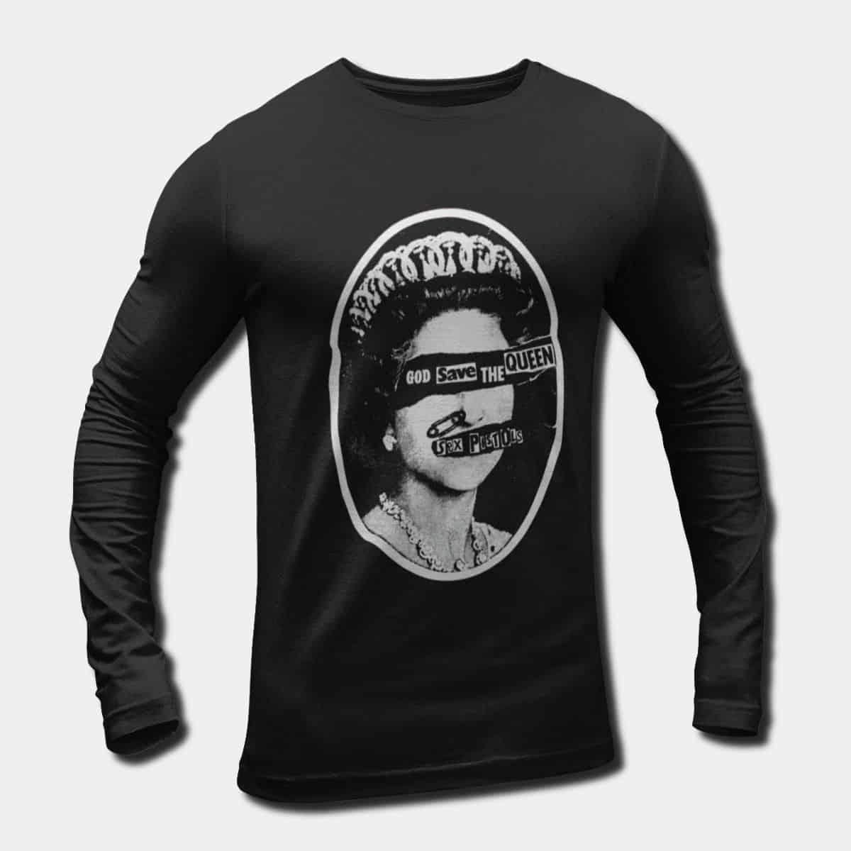 ce85d6f0c9d7 Sex Pistols Band Long Sleeve T-Shirt, Sex Pistols God Save the Queen ...