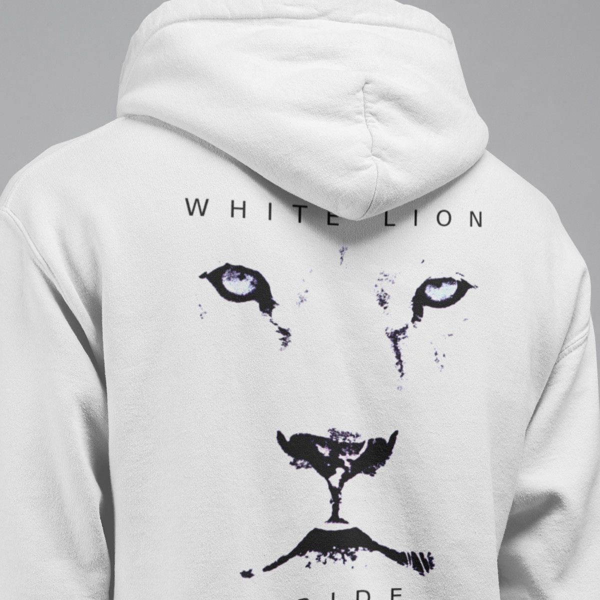 White Lion Hoodie, White Lion Pride Hooded Sweatshirt, Hard Rock, Heavy  Metal Merch
