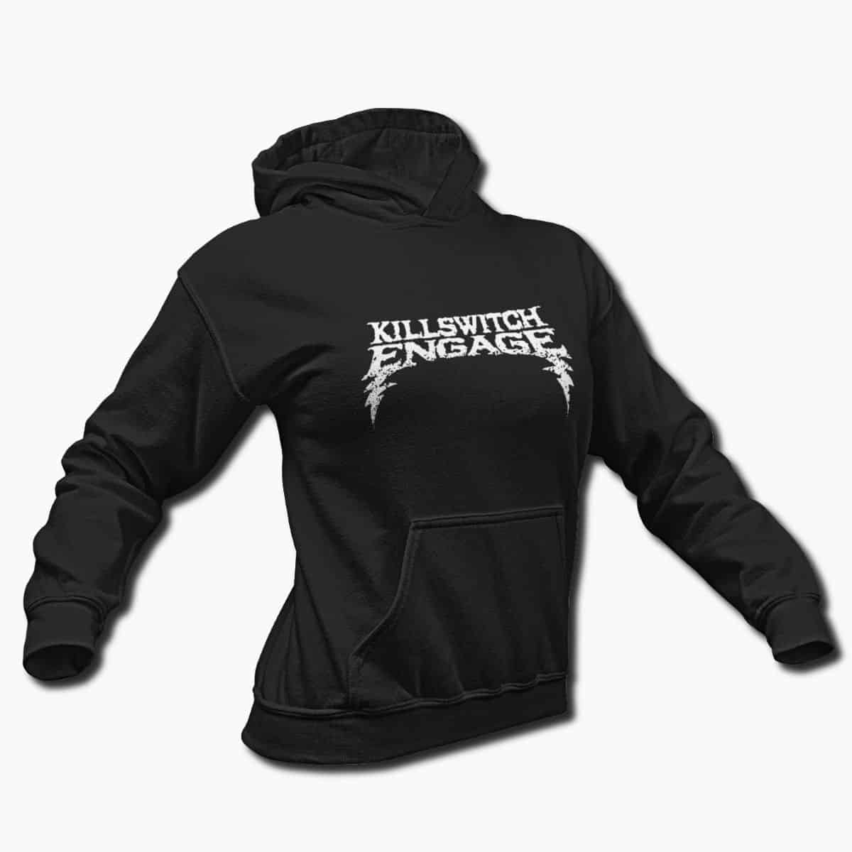 Killswitch Engage Band Hoodie, Killswitch Engage Logo Hooded Sweatshirt,  Metalcore Merchandise