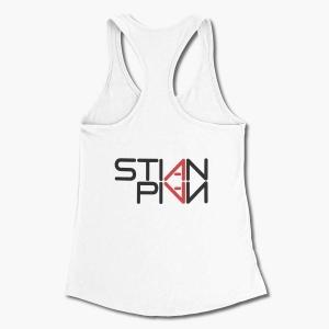 Stian Pian Tank Top, Stian Pian Logo White Tank Top Shirt