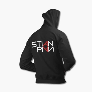 Stian Pian Zip Up Hoodie, Stian Pian Logo Black Zipper Hooded Sweatshirt